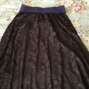 LuLaRoe long Lucy skirt